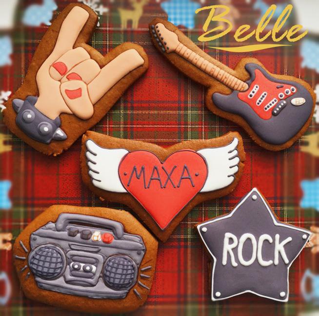 Рок-набор, пряники - сладкая мастерская Belle