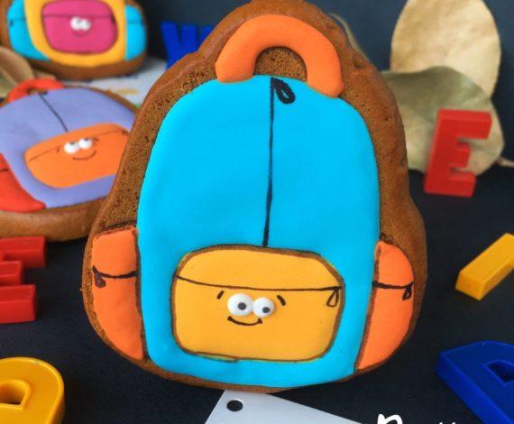 Пряник имбирный на 1 сентября рюкзак